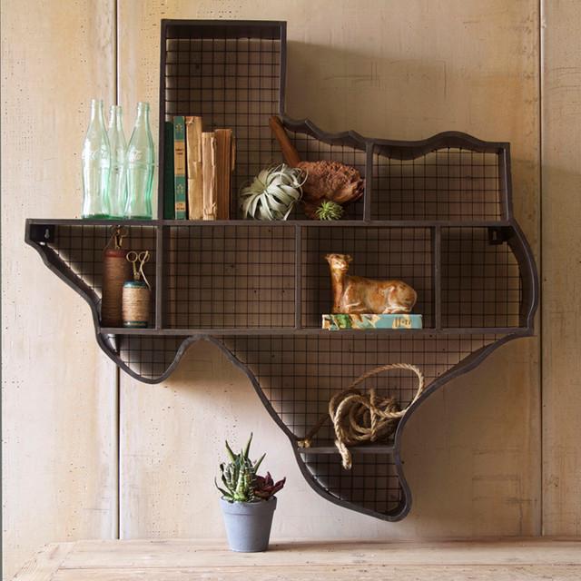 Texas Cubby Wall Shelf