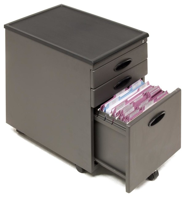 File Cabinet - Pewter - Contemporary - Filing Cabinets - by ShopLadder