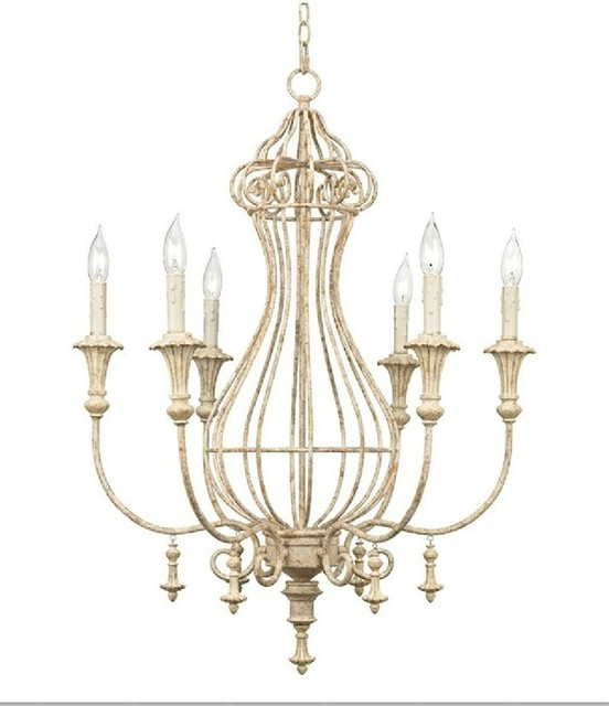 Modern Chandeliers Nyc: Antique Country 6 Candles Chandelier