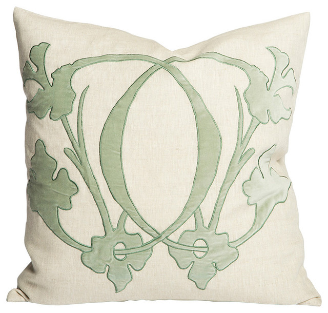 Decorative Pillows With Mirrors : Aidan Gray Pillow Mirror C Flax - Modern - Decorative Pillows