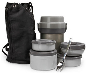 mr bento stainless lunch jar modern lunch boxes and totes by thinkgeek. Black Bedroom Furniture Sets. Home Design Ideas