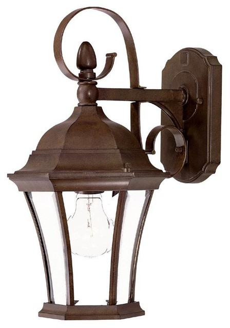 Burled Walnut New Orleans 1 Light 16 Height Outdoor Wall Sconce - Traditional - Outdoor Wall ...