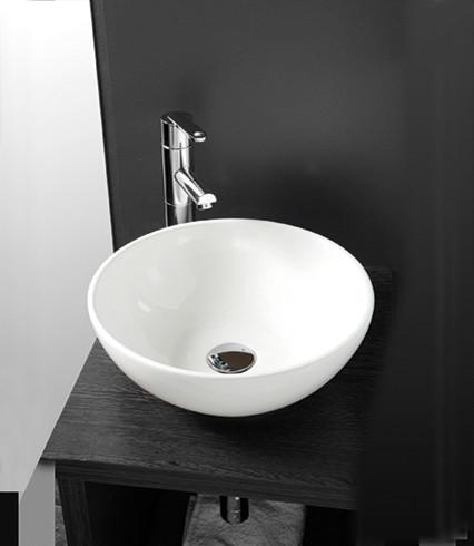 Esher 40cm countertop basin contemporary bathroom for Designer bathroom sinks basins