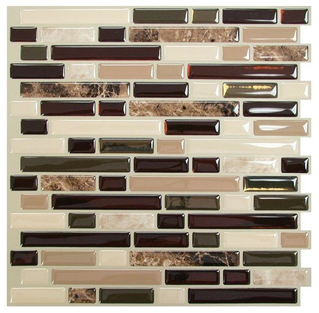 tiles bellagio mosaik peel and stick wall tile traditional tile