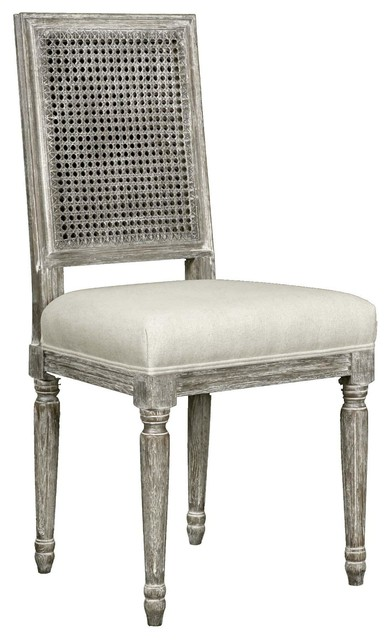 Bungalow 5 Annette Side Chair in Gray Limed Oak pair only