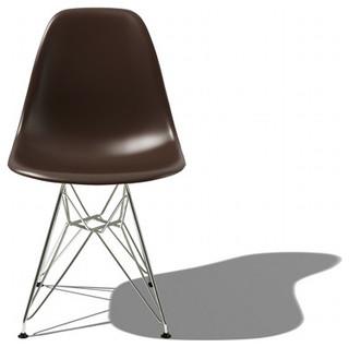Eames Molded Plastic Side Chair w Eiffel Base