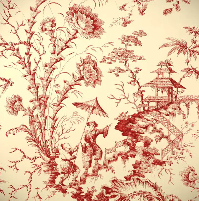 Pillement toile wallpaper asian wallpaper by for Oriental wallpaper