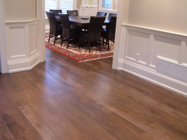 Hickory Plank Flooring Custom Stained And Finished On Site