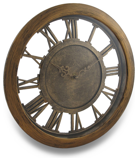 Antique Finish Cut Out Open Frame Design Wall Clock Farmhouse Wall Clocks