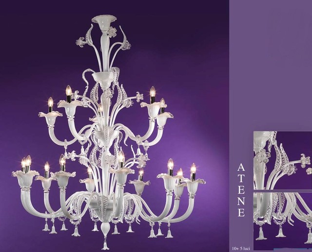 murano glass atene rezzonico chandelier contemporain lustre adelaide par murano art. Black Bedroom Furniture Sets. Home Design Ideas