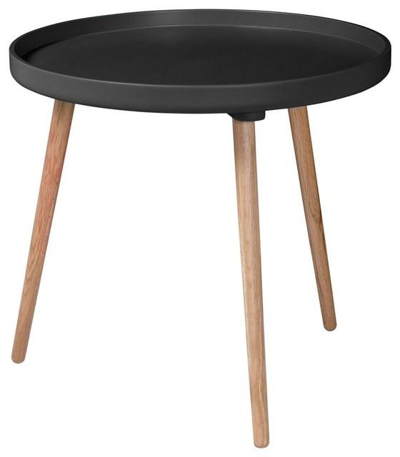 table basse ronde kompass 55 haute couleur noir scandinave table basse par. Black Bedroom Furniture Sets. Home Design Ideas