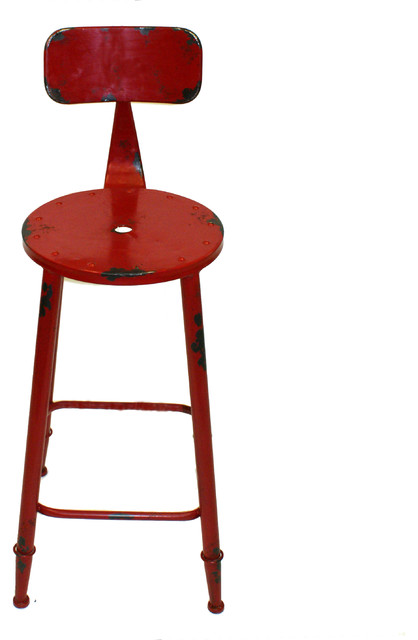 Armand Counter Stool Red Industrial Bar Stools and  : industrial bar stools and kitchen stools from houzz.co.uk size 418 x 640 jpeg 33kB