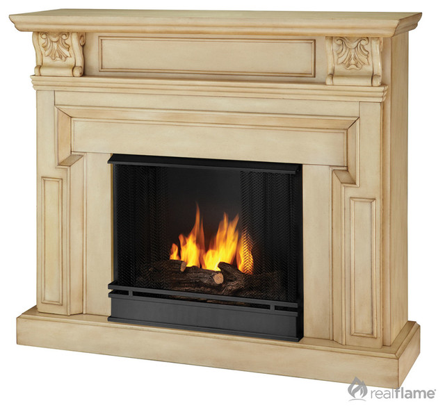Real Flame Kristine Indoor Gel Fireplace contemporary