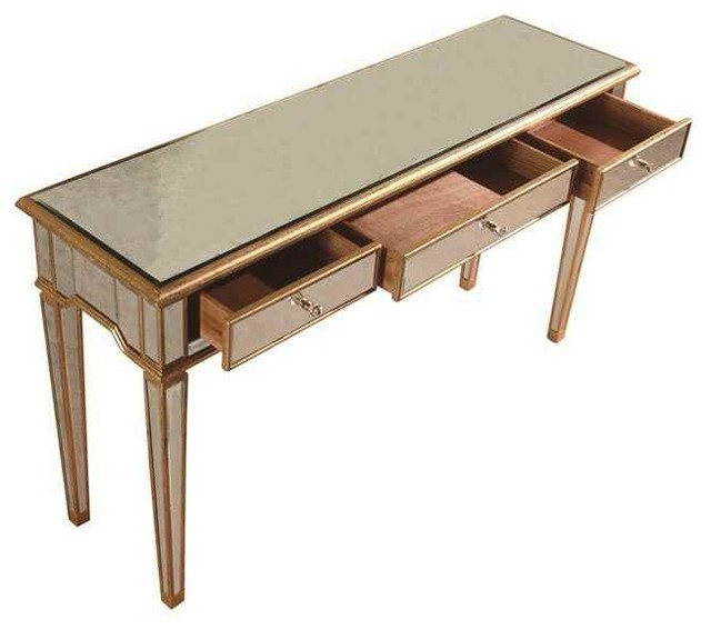 3 drawers console table contemporary console tables - Contemporary console tables with drawers ...