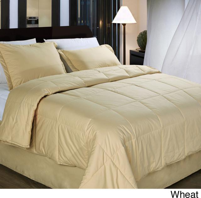 Cottonloft All Natural Down Alternative Cotton Filled 4 Piece Comforter Set Contemporary