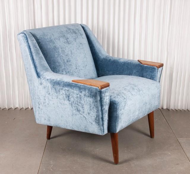 Butaca de terciopelo azul n rdico sillones y butacas - Butacas y sillones ...