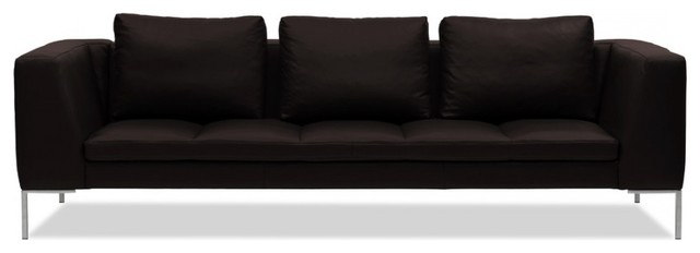 3 sitzer sofa madison semi anilinleder dunkelbraun modern sofas by fashion4home gmbh. Black Bedroom Furniture Sets. Home Design Ideas