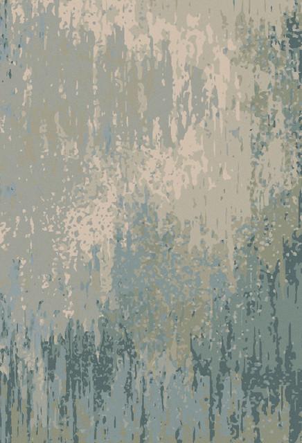 Surya Watercolor Wat 5004 Light Grey Teal Rug
