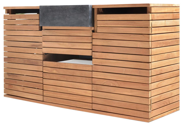 meuble suspendu avec vasque en bois de teck 120 slats. Black Bedroom Furniture Sets. Home Design Ideas