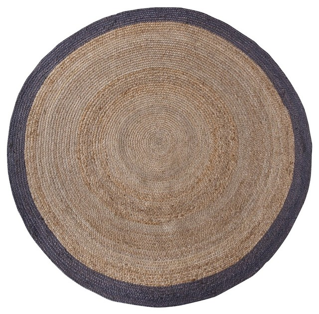 tapis rond en chanvre 200 cm ermelo couleur naturel. Black Bedroom Furniture Sets. Home Design Ideas