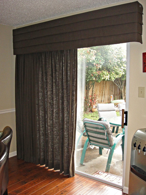 Drapery With Cornice Board Contemporary Curtains