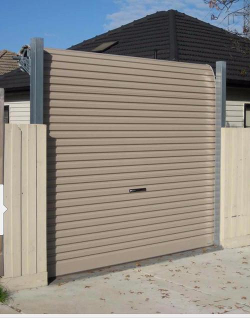 Freestanding Garage Door And Fence