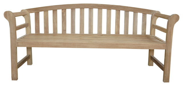 Brisbane Deep Seating Bench Traditional Outdoor Lounge Chairs