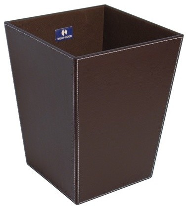 Ecopelle waste basket modern wastebaskets - Modern wastebasket ...