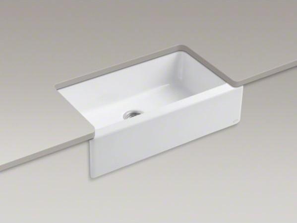 Kohler dickinson r 33 x 22 1 8 x 8 3 4 apron front under mount single bowl contemporary - Kohler dickinson apron front sink ...