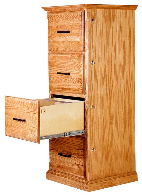 Forest Designs Traditional Four Drawer File - Traditional ...