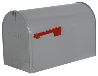 Mailbox Rural Stanley Jumbo Gray - Modern - Mailboxes - by ...