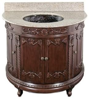 Oceana Semi Circle Eclectic Bathroom Vanity Units