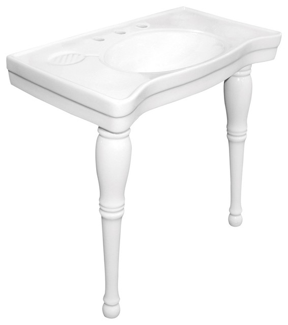Wall Mount Pedestal Sink : Imperia China Wall Mount Pedestal Bathroom Sink With 8