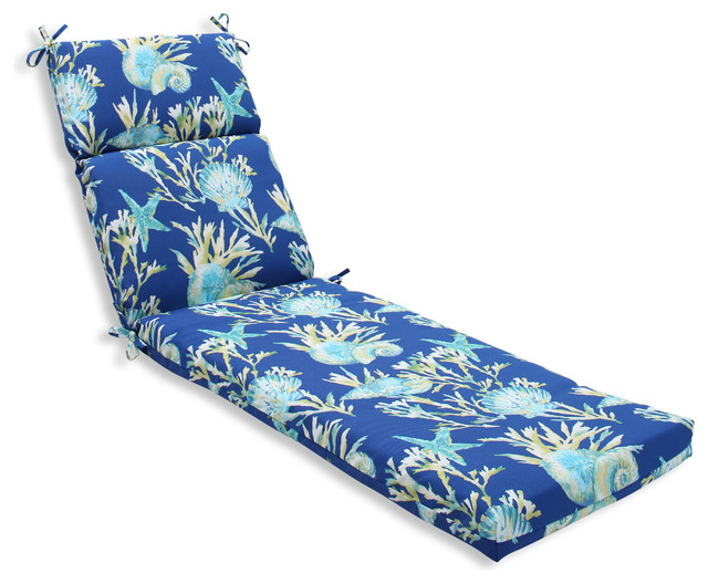 Beach Style Outdoor Cushions : Daytrip Pacific Chaise Lounge Cushion - Beach Style - Outdoor Cushions And Pillows - by Pillow ...
