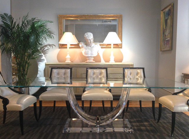 Lucite dining tables