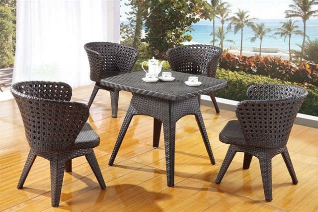 Fahb Contemporary Patio Dining Set Modern Outdoor Dining Sets by DefySu
