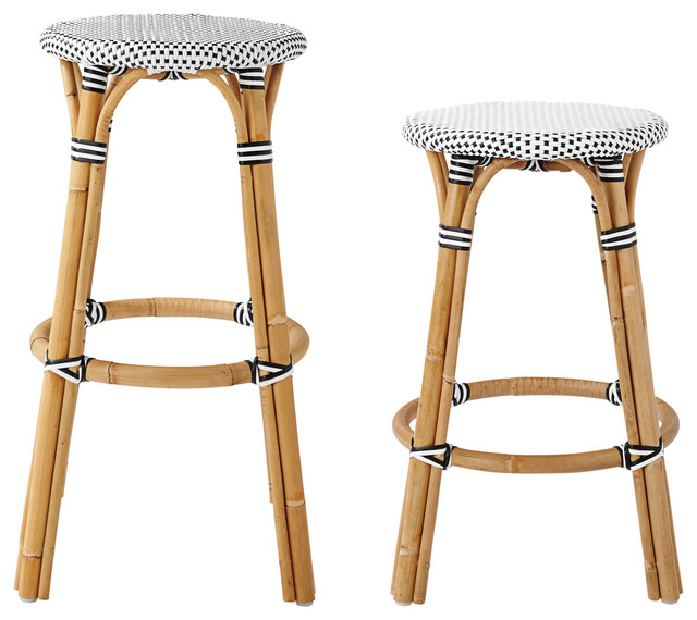 Serena Amp Lily Riviera Backless Stools Modern Furniture
