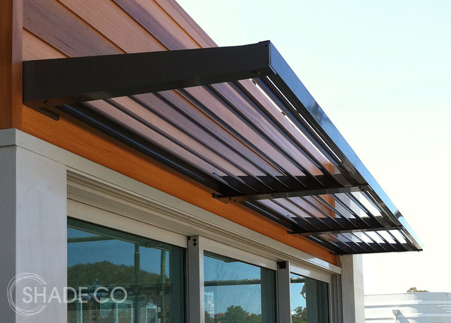 Louvre awnings modern window treatments sydney by shadeco