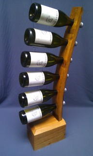 Oak stave wine stand arts crafts wine racks wales for Arts and crafts wine rack