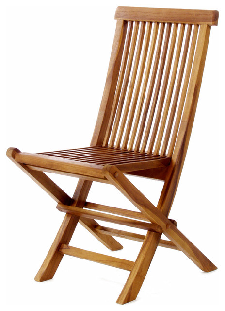 All Things Cedar Tf22 Teak Wood Folding Chair Modern Outdoor Chairs