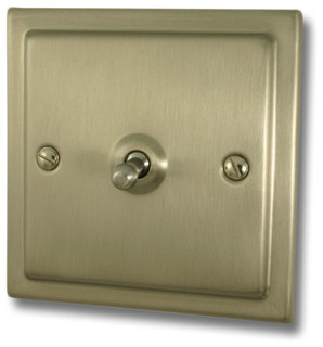 Satin nickel sockets an switches - Modern switches and sockets ...