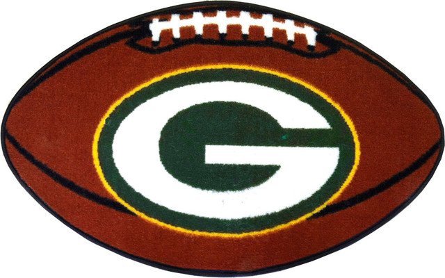 Nfl Green Bay Packers Football Shaped Rug Contemporary