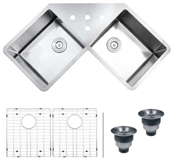 Corner Sink Kitchen Undermount : All Products / Kitchen / Kitchen Fixtures / Kitchen Sinks