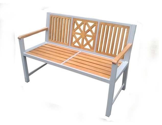 Laguna park bench synthetic wood slats transitional