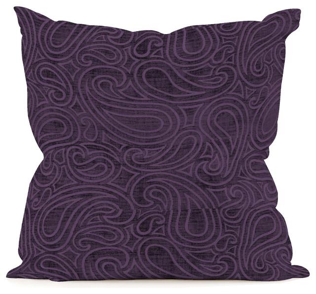Decorative Pillows Eggplant : Howard Elliott Rhythm Eggplant 20