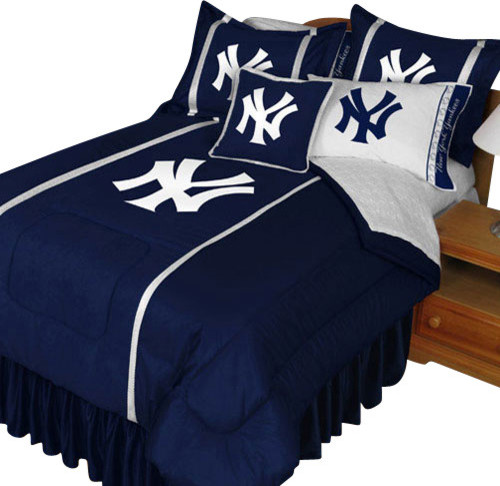 Mlb New York Yankees Bedding Ny Baseball Comforter Sheets