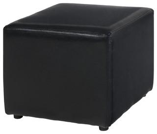 parker pouf carr noir contemporain repose pieds pouf et cube par alin a mobilier d co. Black Bedroom Furniture Sets. Home Design Ideas