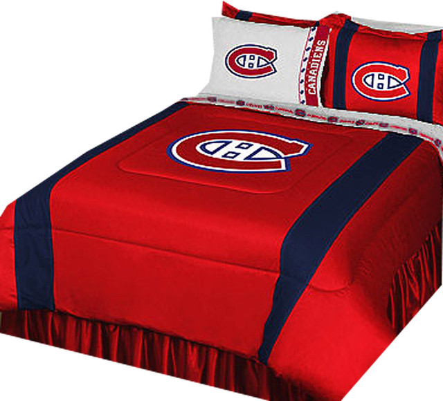 NHL Montreal Canadiens Bed Set Hockey Logo Bedding Drapery .