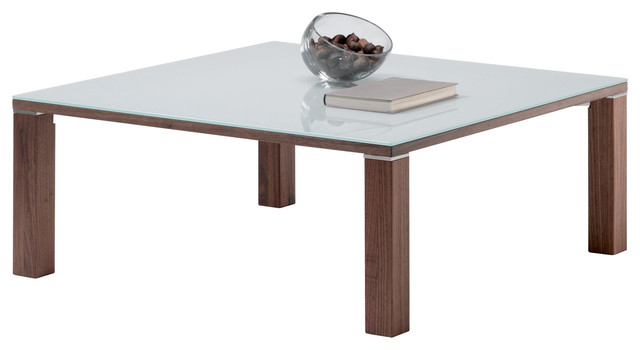 Cubus square glass top Contemporary Coffee Tables