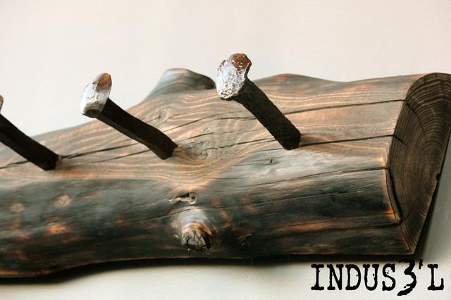 Porte manteau indus3 39 l industriel accessoire et for Porte manteau industriel
